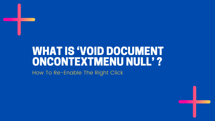 void document on context menu=null?